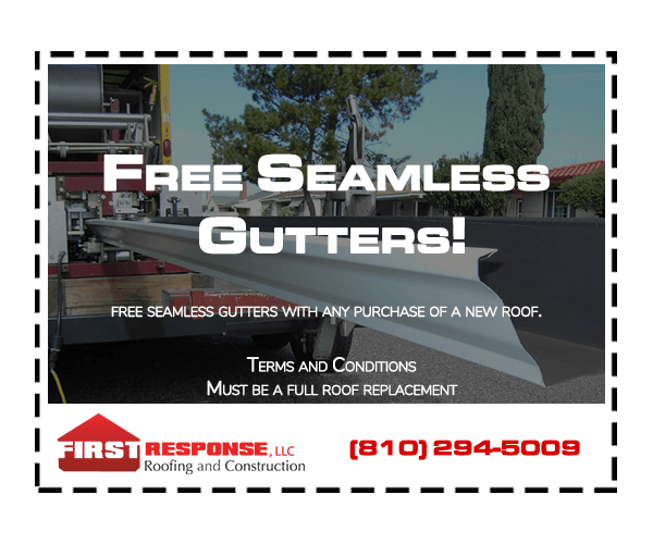 free seamless gutters coupon