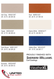 united steel supply color swatches