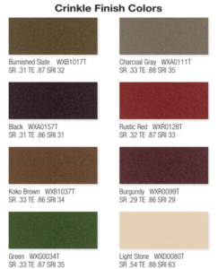crinkle finish colors